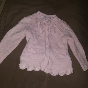Pink Baby Girl Knit Sweater